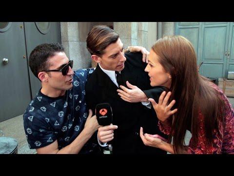 Paula Echevarría, Adrián Lastra y Miguel Ángel Silvestre improvisan una divertida secuencia