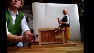 Automata Of A Wood Worker Using A Brace Drill.