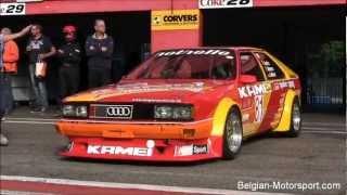 Audi Coupé Kamei 2.0 youngtimer test at Zolder 2012 (high revving)