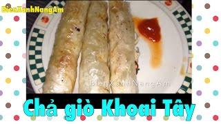 Làm Chả giò Khoai Tây- Potato Vietnamese Egg Rolls Recipe-Thức ăn vặt ở Mỹ- BienXanhNangAm