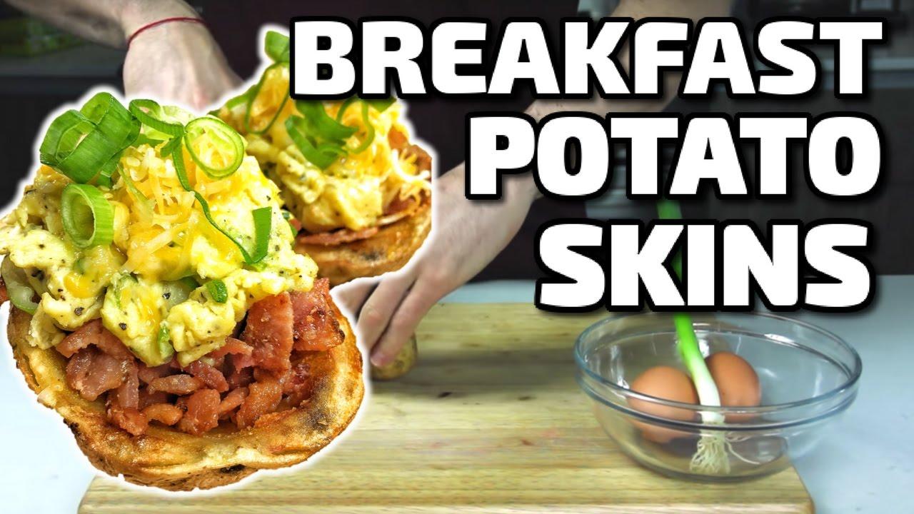 BREAKFAST POTATO SKINS!!! - YouTube
