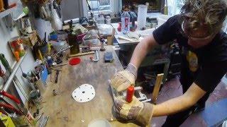Glas trichter aus Flasche bauen DIY für Artemia Zucht Anleitung Teil 1