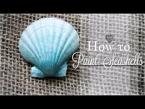 How to Paint on Seashells | DIY Painted Shells | Easy Mermaid Party Crafts #BeachCrafts