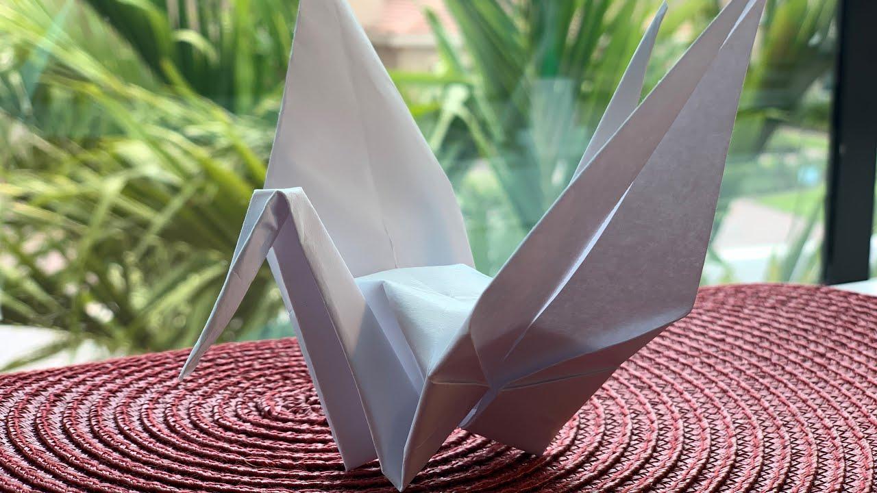 Оригами журавль