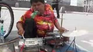 Handicapped Street Musician Lima Peru