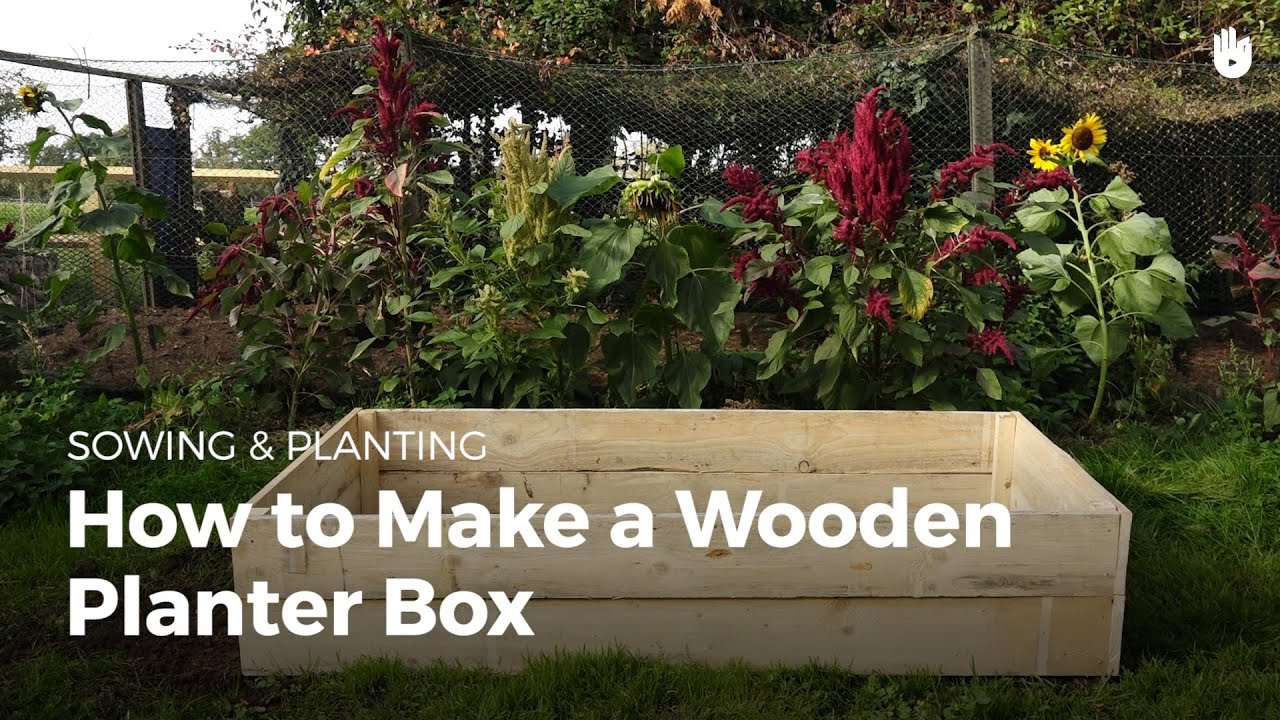 How to Make a Wooden Planter Box - YouTube Wooden Planters For Vegetables on fence for vegetables, raised beds for vegetables, wooden trellis for vegetables, greenhouses for vegetables, wooden containers for vegetables, planter boxes for vegetables,