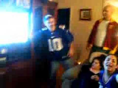 Crazy Reaction to Super Bowl XLII