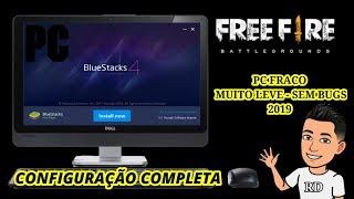 Como Configurar Seu BLUESTACKS 4 Para FREE FIRE PC FRACO Sem Bugs