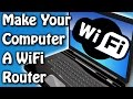 Use Your Computer As WiFi Router Without Any Software ✔