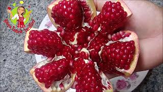 Nar Nasıl Soyulur, POMEGRANATE OPENING - Awesome Pomegranate Technique - jak otworzyć granat