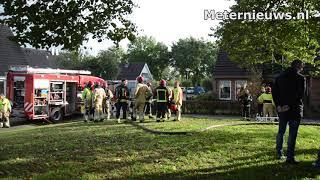 Brandweervrouw gewond na woningbrand in Vlagtwedde