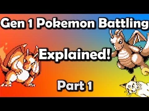 Gen 1 Pokemon Battling EXPLAINED Part 1 - Core Mechanics