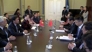 Chủ tịch Quốc hội Nguyễn Thị Kim Ngân tiếp Phó Chủ tịch Nhân đại Trung Quốc