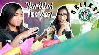 Letting Starbucks Baristas Pick Our Drinks For A Week! | MontoyaTwinz