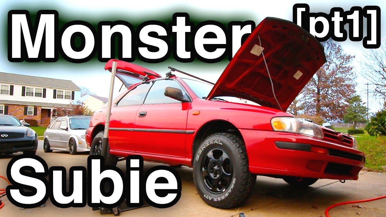 Subaru Forester Suspension SWAP [DIY Monster Subie] (How to Swap Top Hats  w/ Pro Tips )
