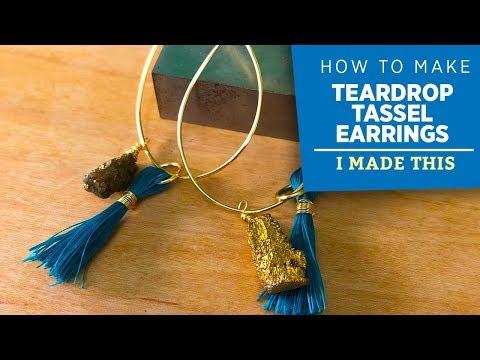 How to Make Teardrop Tassel Earrings | I Made This