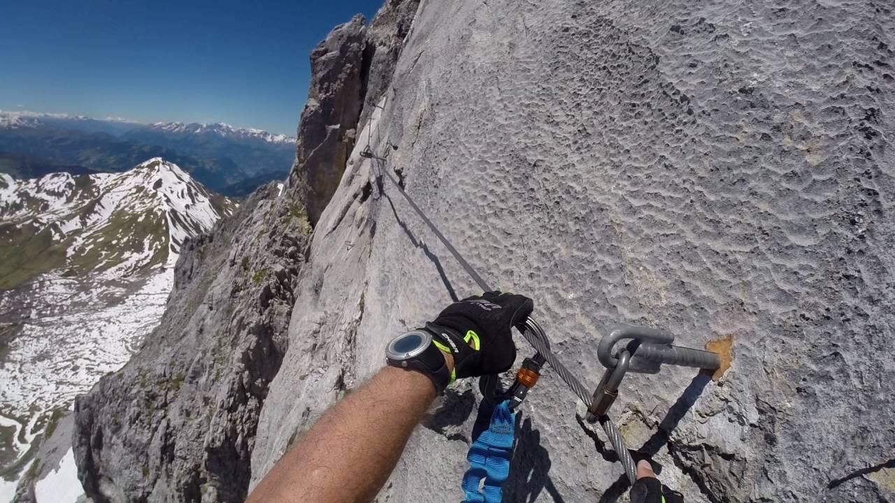 Klettersteig Sulzfluh : Sulzfluh klettersteig querung youtube