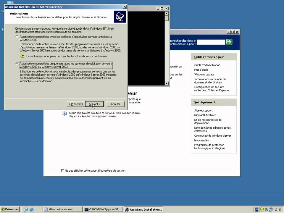Sa fr comment faire pour installer un active directory dns sous windows 2 - Comment installer un groupe filtrant ...