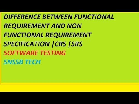 Difference Between Functional Requirement And Non Functional