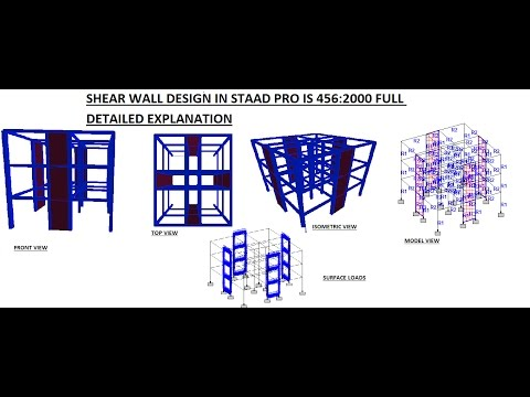 SHEAR WALL DESIGN IN STAAD PRO IS 456 :2000 FULL DETAILED EX