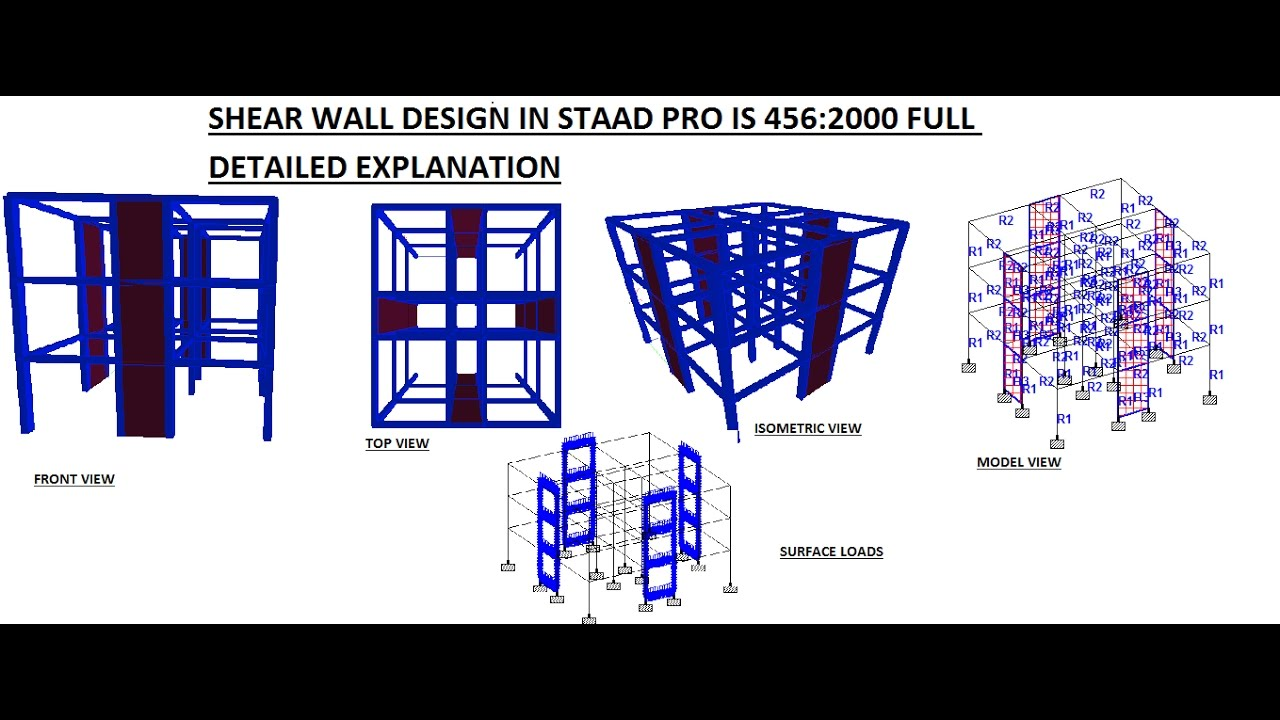 SHEAR WALL DESIGN IN STAAD PRO IS 456 :2000 FULL DETAILED EXPLANATION