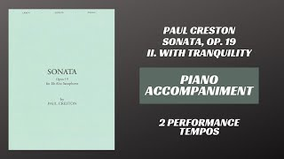 Paul Creston – Sonata Op. 19, mvt. II (Piano Accompaniment)