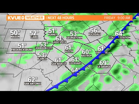 LIVE RADAR: Tracking Temperatures As Cold Front Hits Central Texas | KVUE