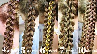 6 Вasic braids! HOW TO braid for beginners!