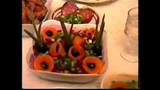 Как украсить заливные и другие блюда.*