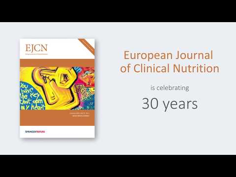 The European Journal of Clinical Nutrition celebrates 30 years