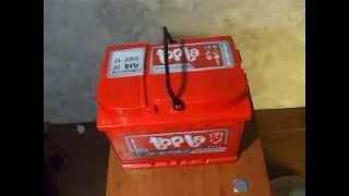 Распаковка аккумуляторной батареи TOPLA 60 А/ч.
