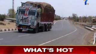 NH highway accident zone in Adilabad boath