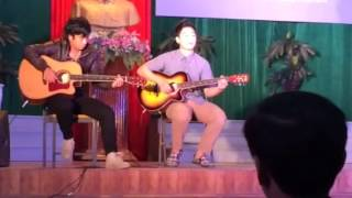 Chơi guitar bài hát star ngày quốc khánh lào