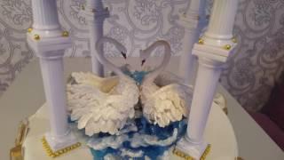 Свадебный торт Два лебедя