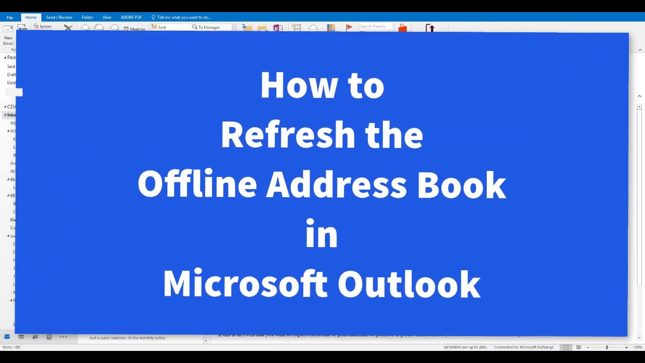 Outlook Full Version Offline Address Book