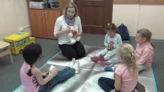 Урок с дошкольниками 5-6 лет. Первые месяцы обучения. Методика Лингвитании