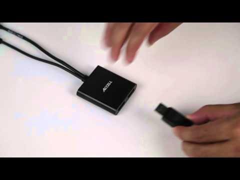 How to Install Accell's Mini DisplayPort 1.2 to 2 DisplayPort Multi-Display MST Hub