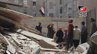 نائب المحافظ ومدير أمن القاهرة يتفقدان آثار سقوط عمارة بوسط البلد