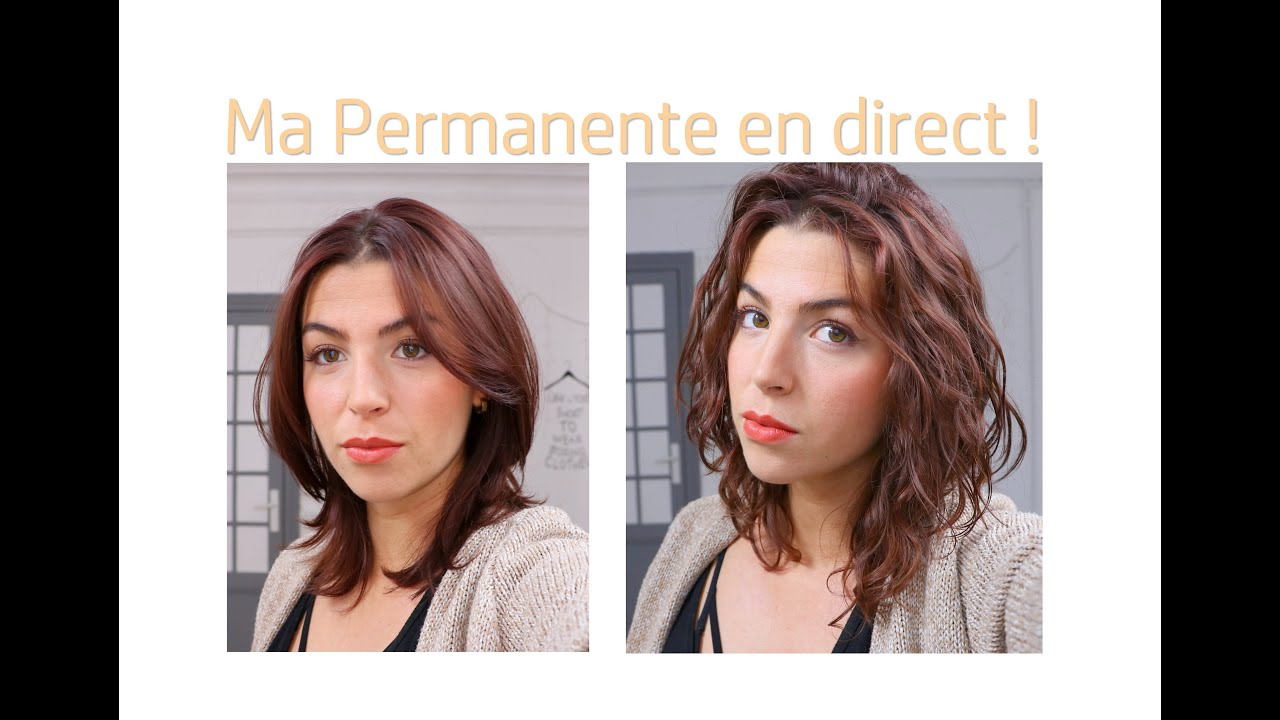 Coiffure Femme Cheveux Court Permanente Ma Permanente Cheveux En Direct Youtube