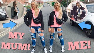 I dressed as IDENTICAL TWINS with my MUM for 24 hours..