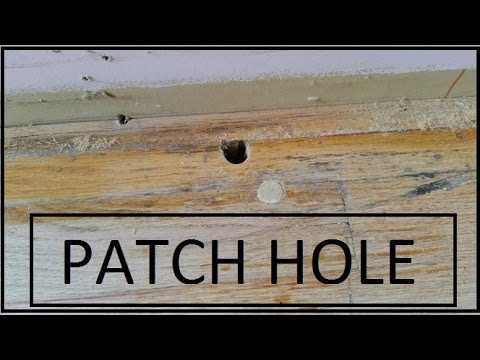 How To Fill Circular Hole In Wood Floor Youtube