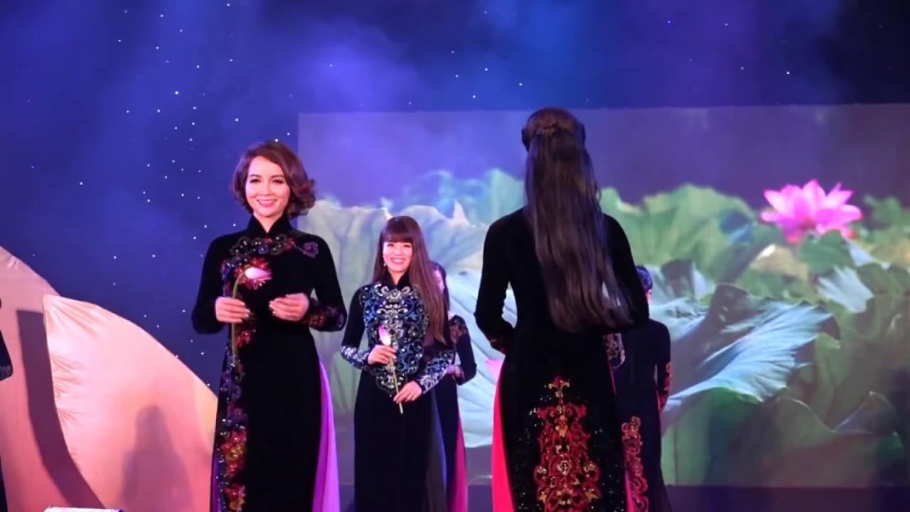 Nhà Thiết Kế Sỹ Hoàng – Bộ Sưu Tập Áo Dài Hoa Sen Cổ (Các Hoa hậu) – Sen Vàng Từ Bi 2015 [Official]