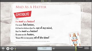 Mad As A Hatter from Alice The Musical – School Musical by Out of the Ark Music – Words on Screen