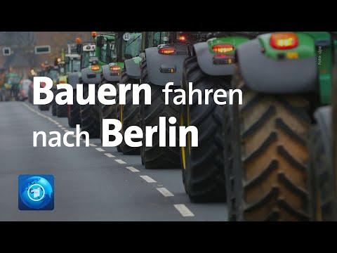 Landwirte Protestieren: Sternfahrt Nach Berlin