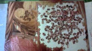 1000 pieces jigsaw puzzle time lapse. Kitty and yarn.