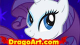 How to Draw Rarity, Rarity, My Little Pony, Step by Step