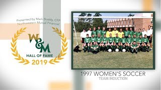 2019 W&M Athletics Hall of Fame - 1997 Women's Soccer Team Induction
