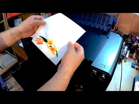 Printing Custom Note and Greeting cards on the CANON Pixma PRO 1