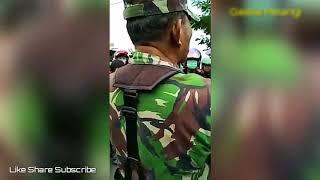 NGERI!! TNI Juga Ikut Marah Saat Polisi Sedang Menghadapi Warga Yang Emosi  SALUT!!