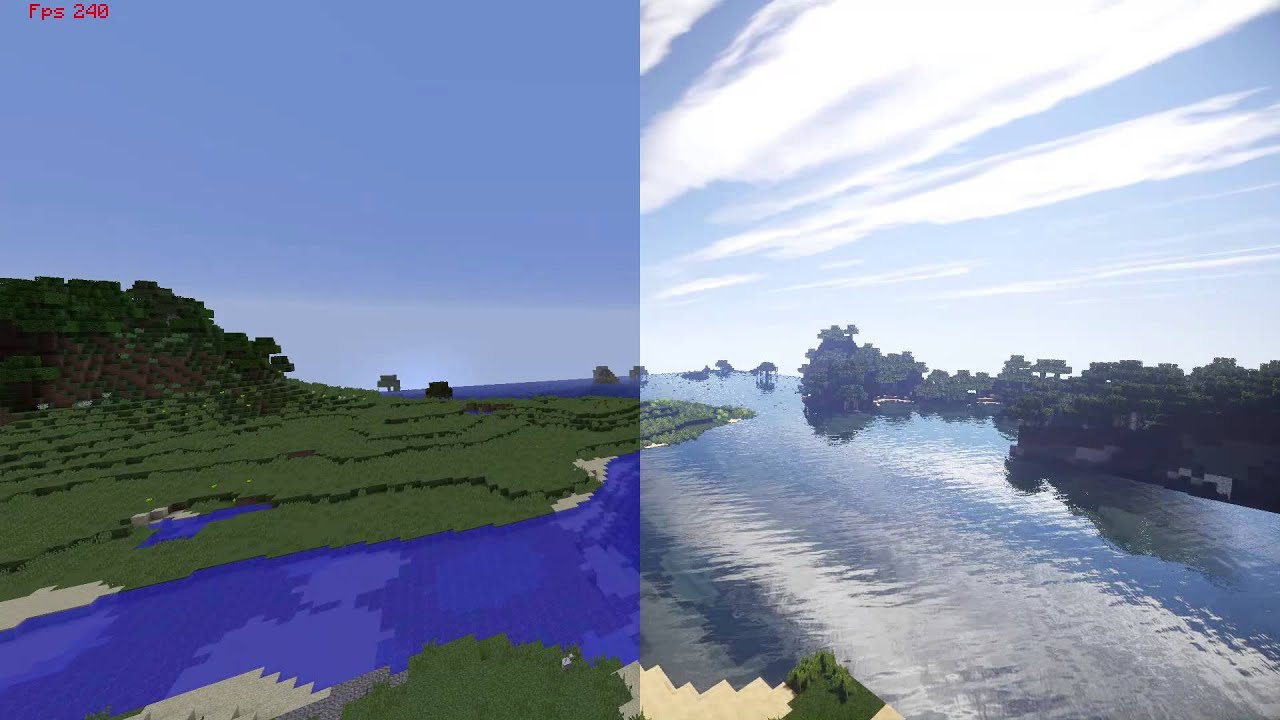 Normal Minecraft VS Shaders and High Res Textures YouTube